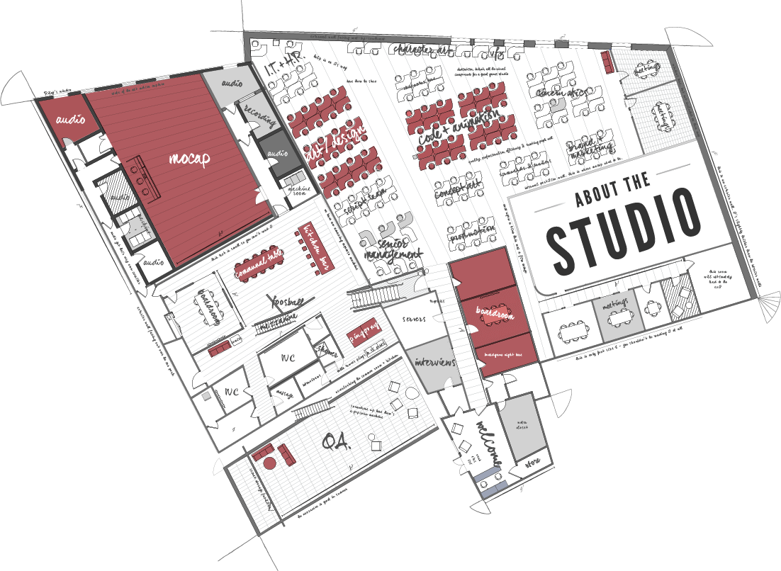 Rocksteady studios and studios on pinterest for Architecture studio